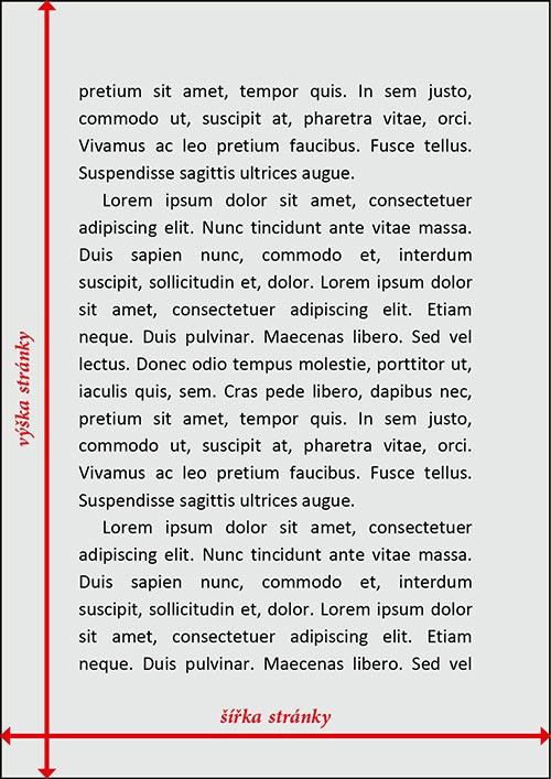 WORD šablony, velikost stránky, TiskovyExpress.cz