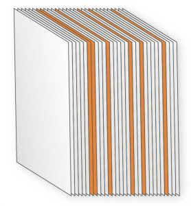 Počet stran knihy, kombinovaný tisk